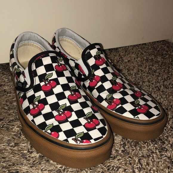 f7d7d9546d cherry checker classic slip-on vans. M 5c6e10a2fe51519c5673f389